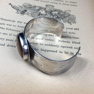 Jewelry - Sterling Silver Large Tiger's Eye Cuff Bracelet